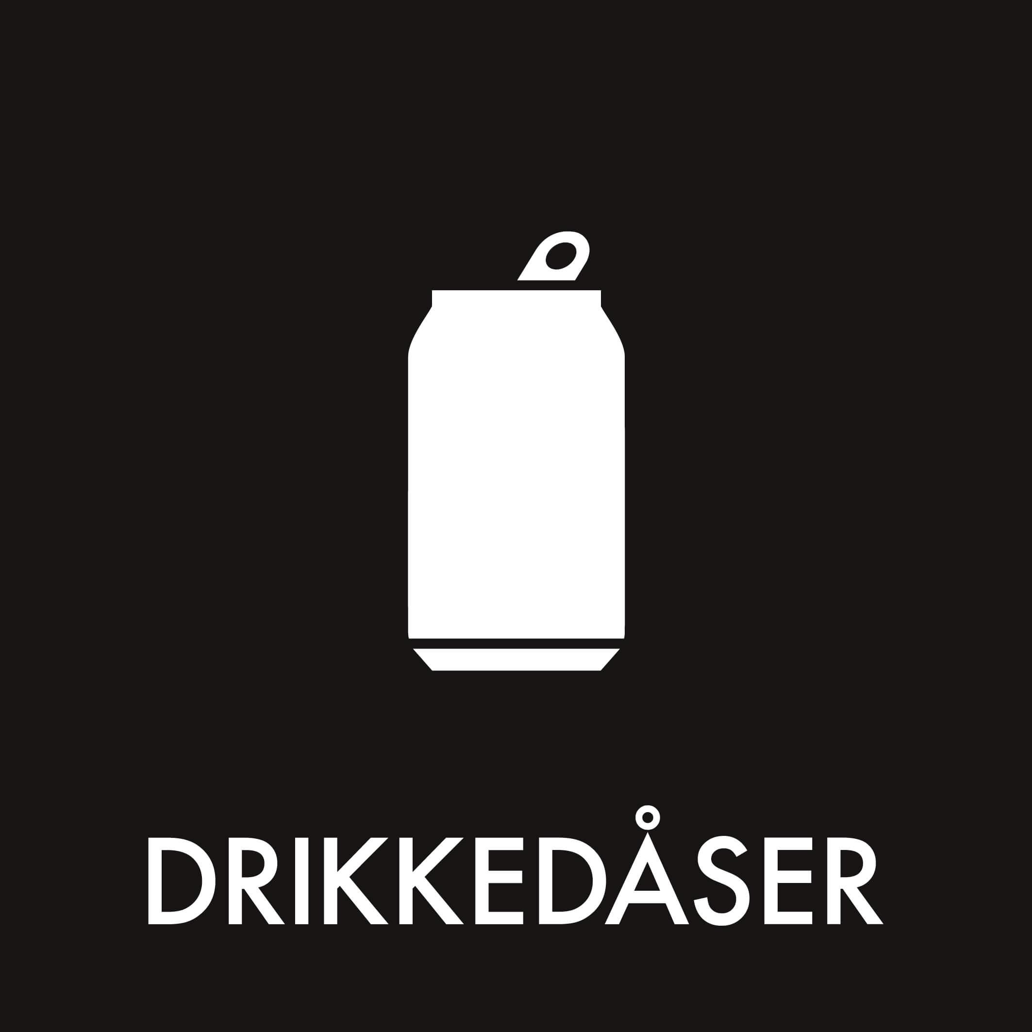 Dansk Affaldssortering - Drikkedåser sort
