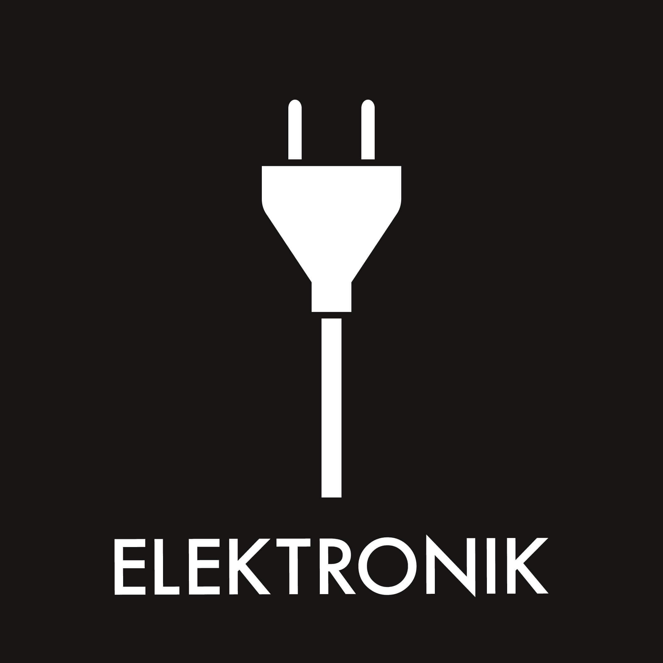 Dansk Affaldssortering - Elektronik sort