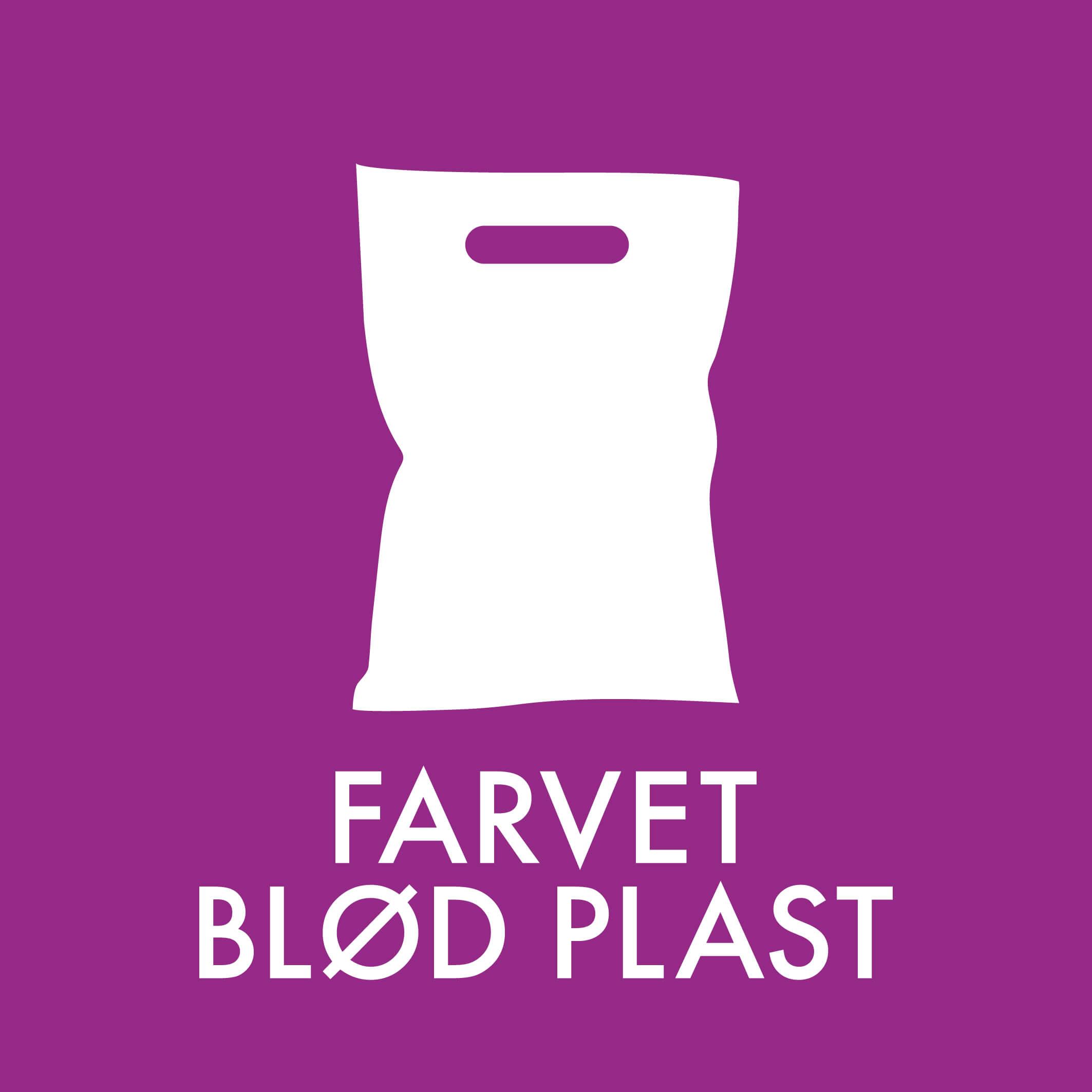 Dansk Affaldssortering - Farvet blød plast