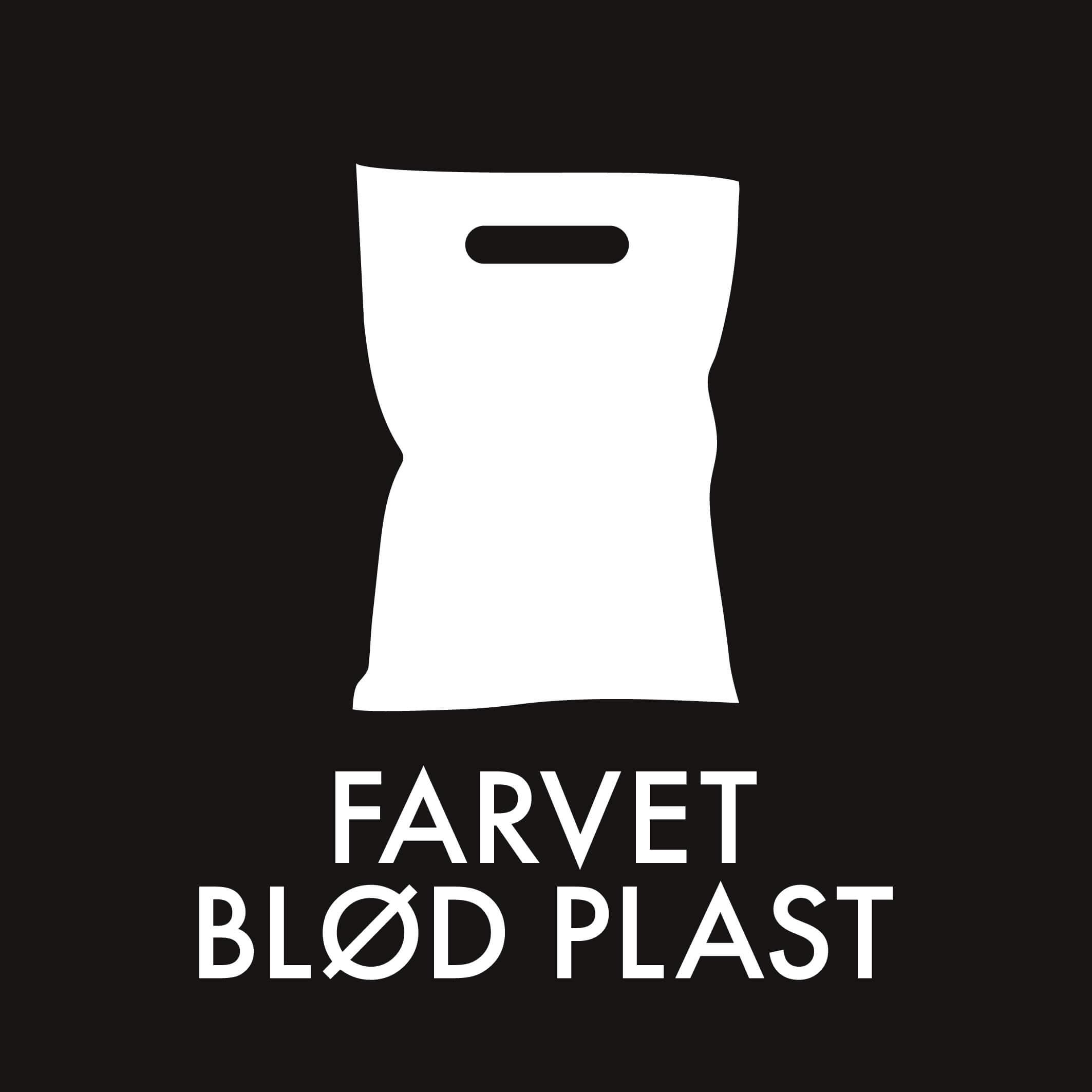 Dansk Affaldssortering - Farvet blød plast sort