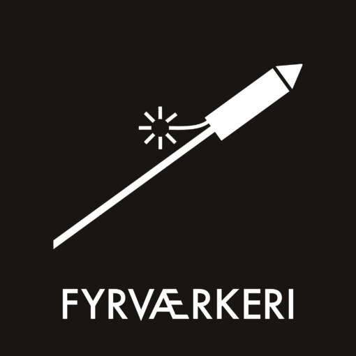 Dansk Affaldssortering - Fyrværkeri sort