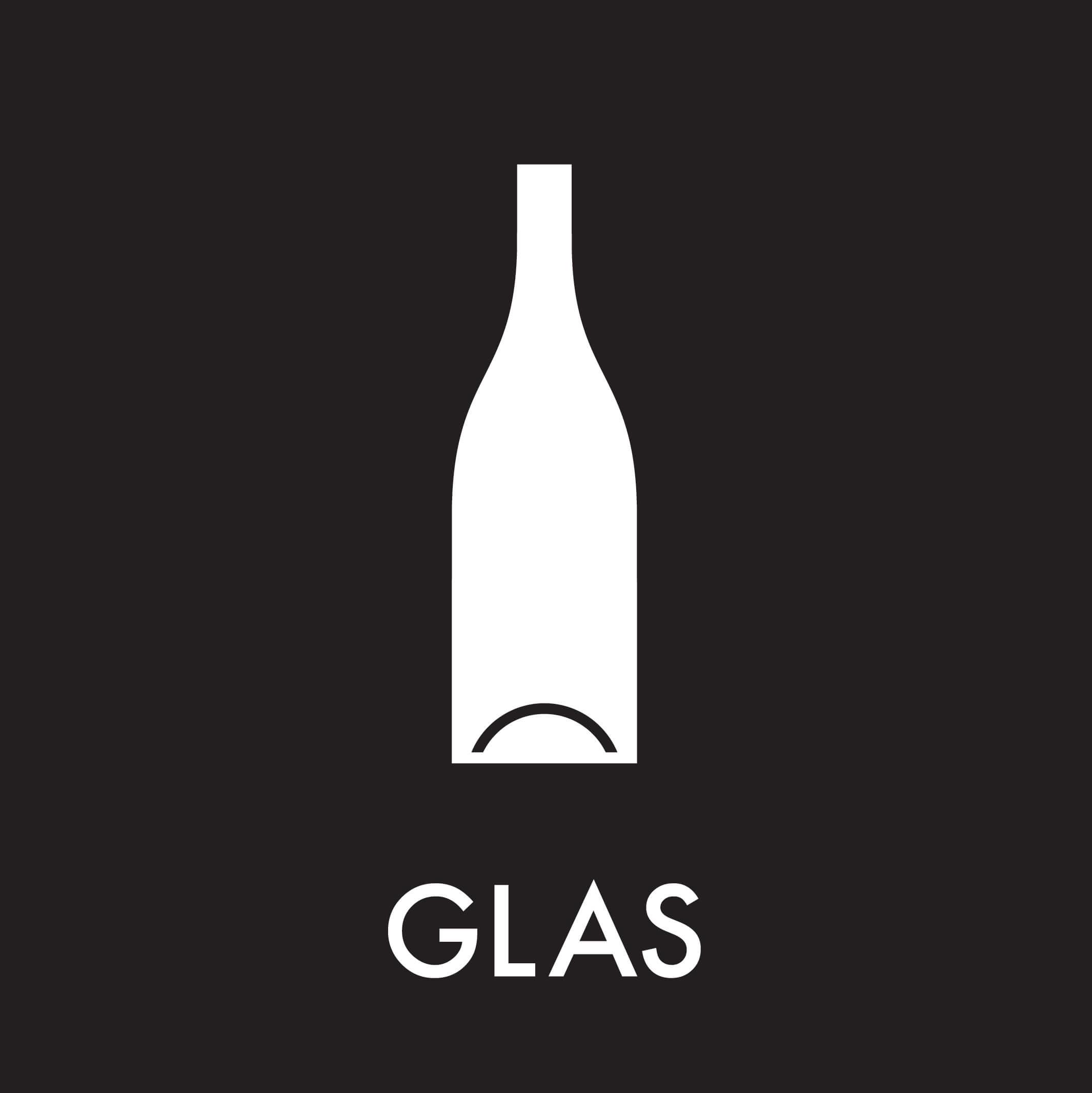 Dansk Affaldssortering - Glas sort
