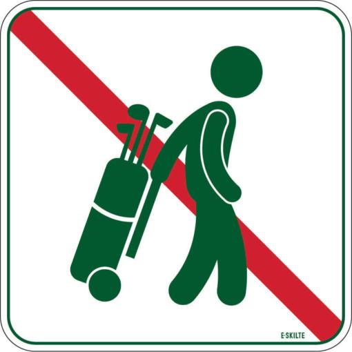 Gennemgang forbudt golf skilt
