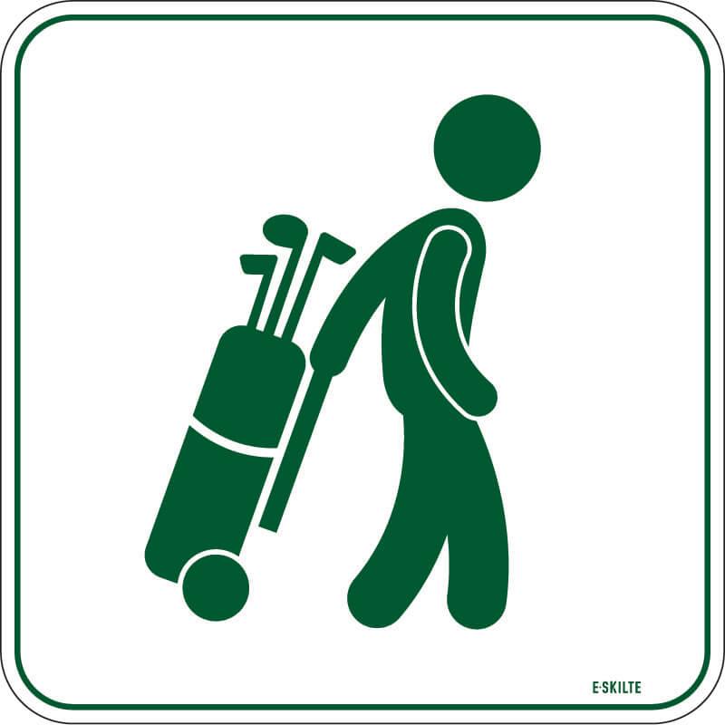Gennemgang tilladt golf skilt