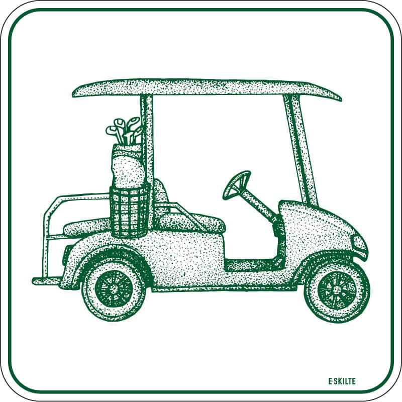 Golfbil retro skilt