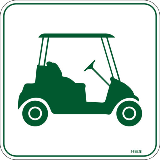 Golfbil skilt