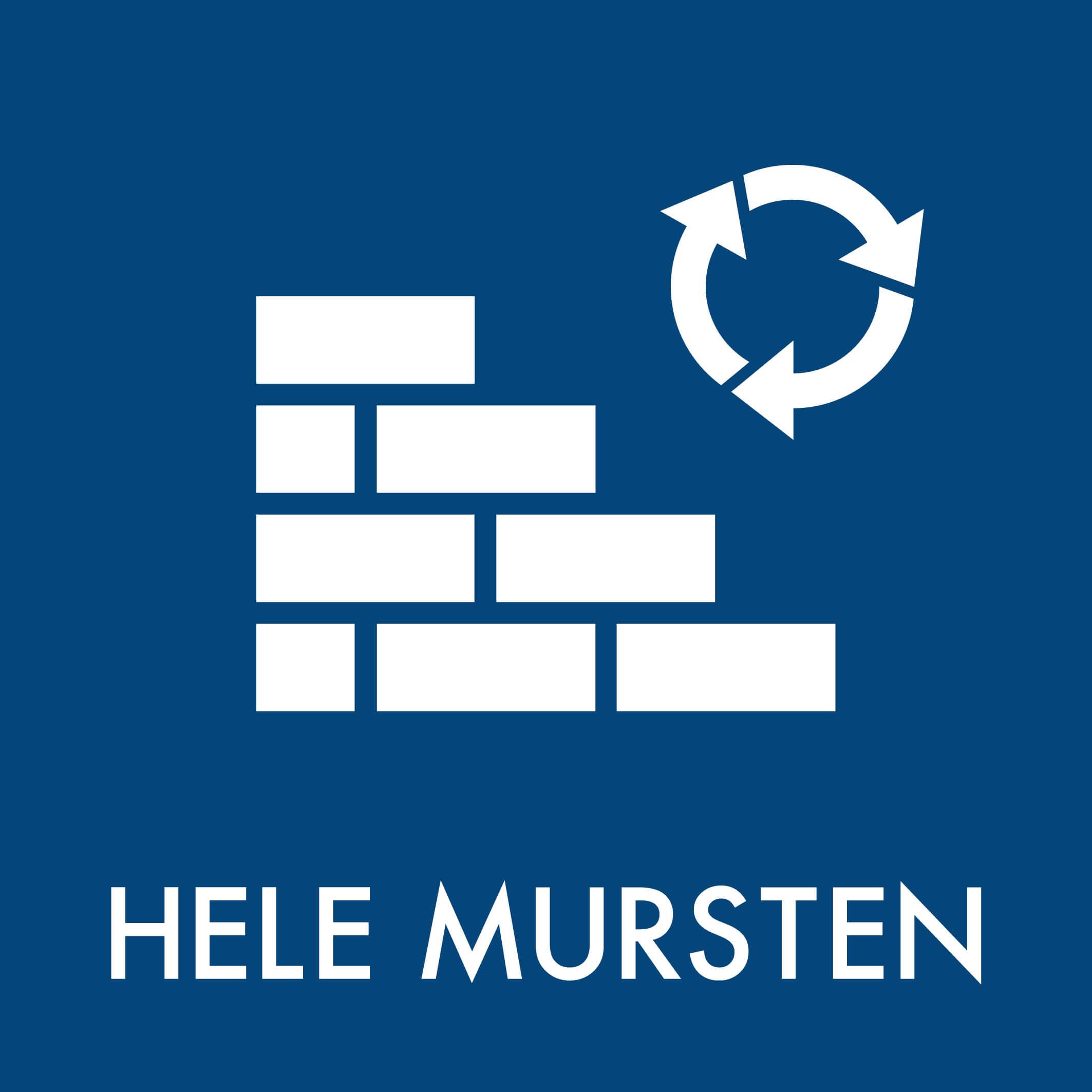 Dansk Affaldssortering - Hele mursten