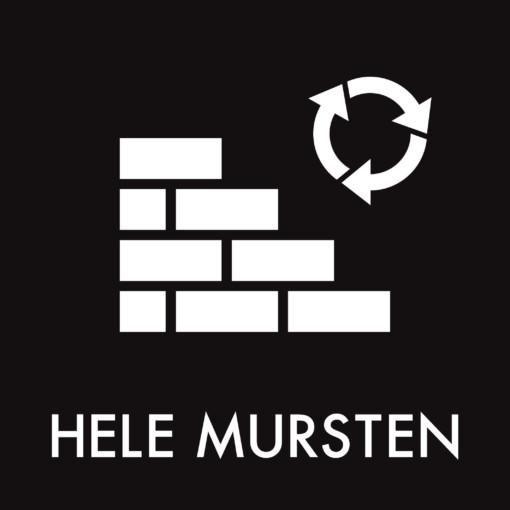 Dansk Affaldssortering - Hele mursten sort