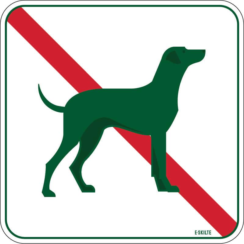 Hunde forbudt golf skilt