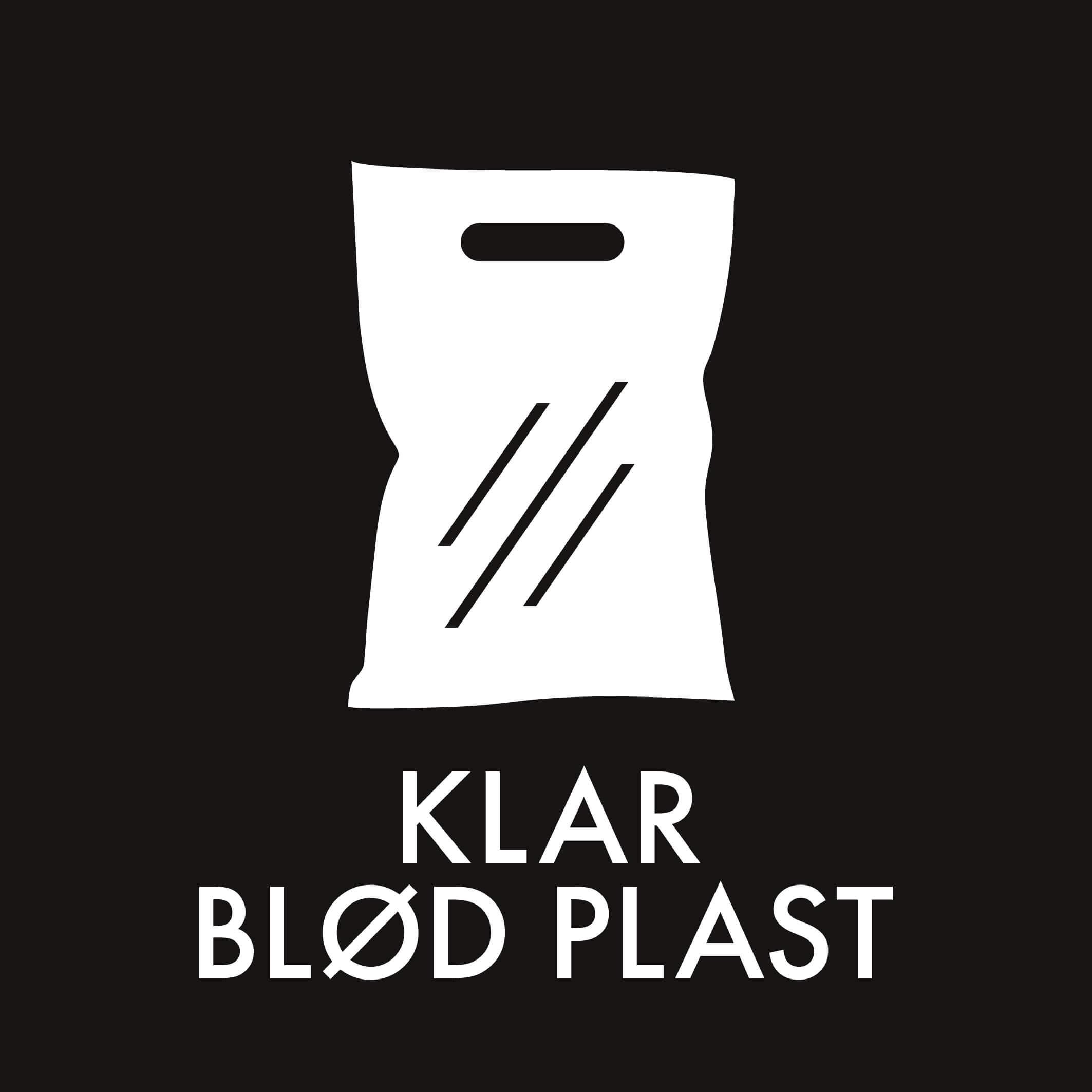 Dansk Affaldssortering - Klar blød plast sort