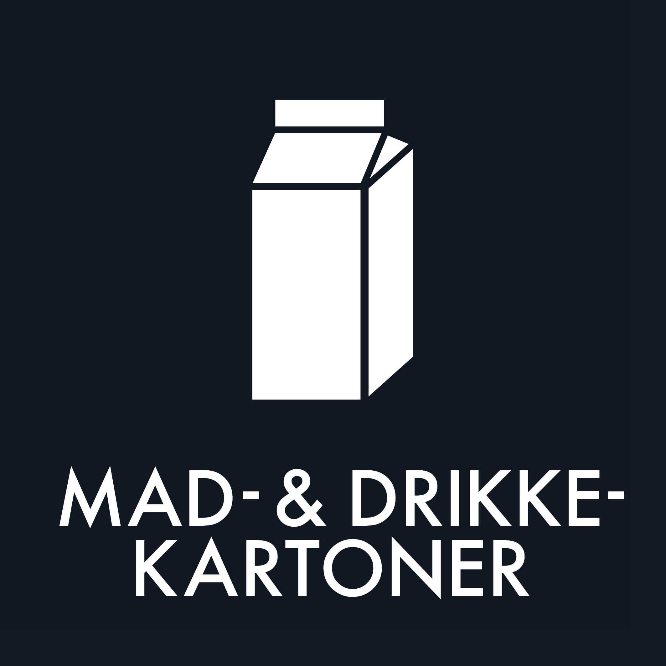 Dansk Affaldssortering - Mad- & Drikkekartoner sort