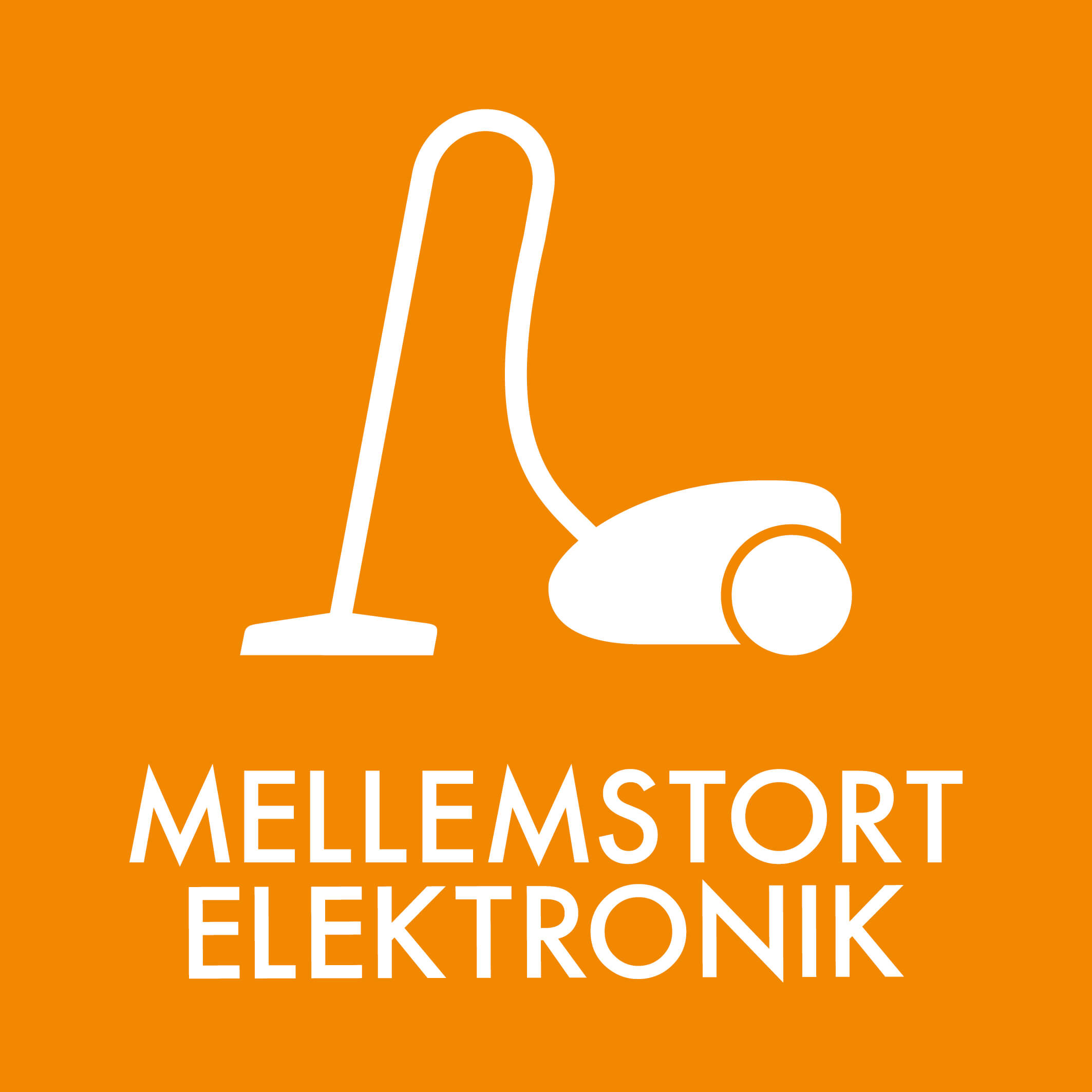 Dansk Affaldssortering - Mellemstort elektronik