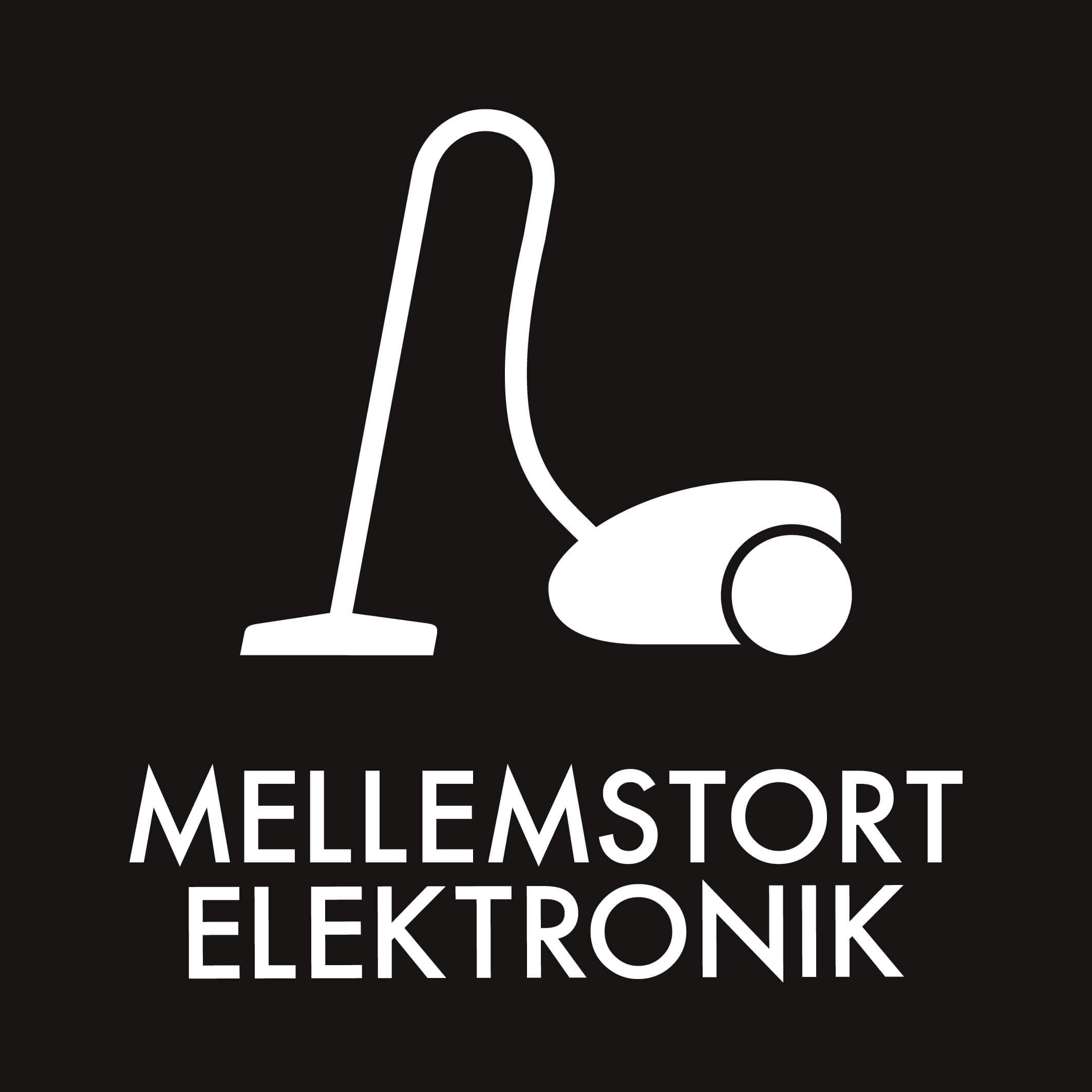 Dansk Affaldssortering - Mellemstort elektronik sort