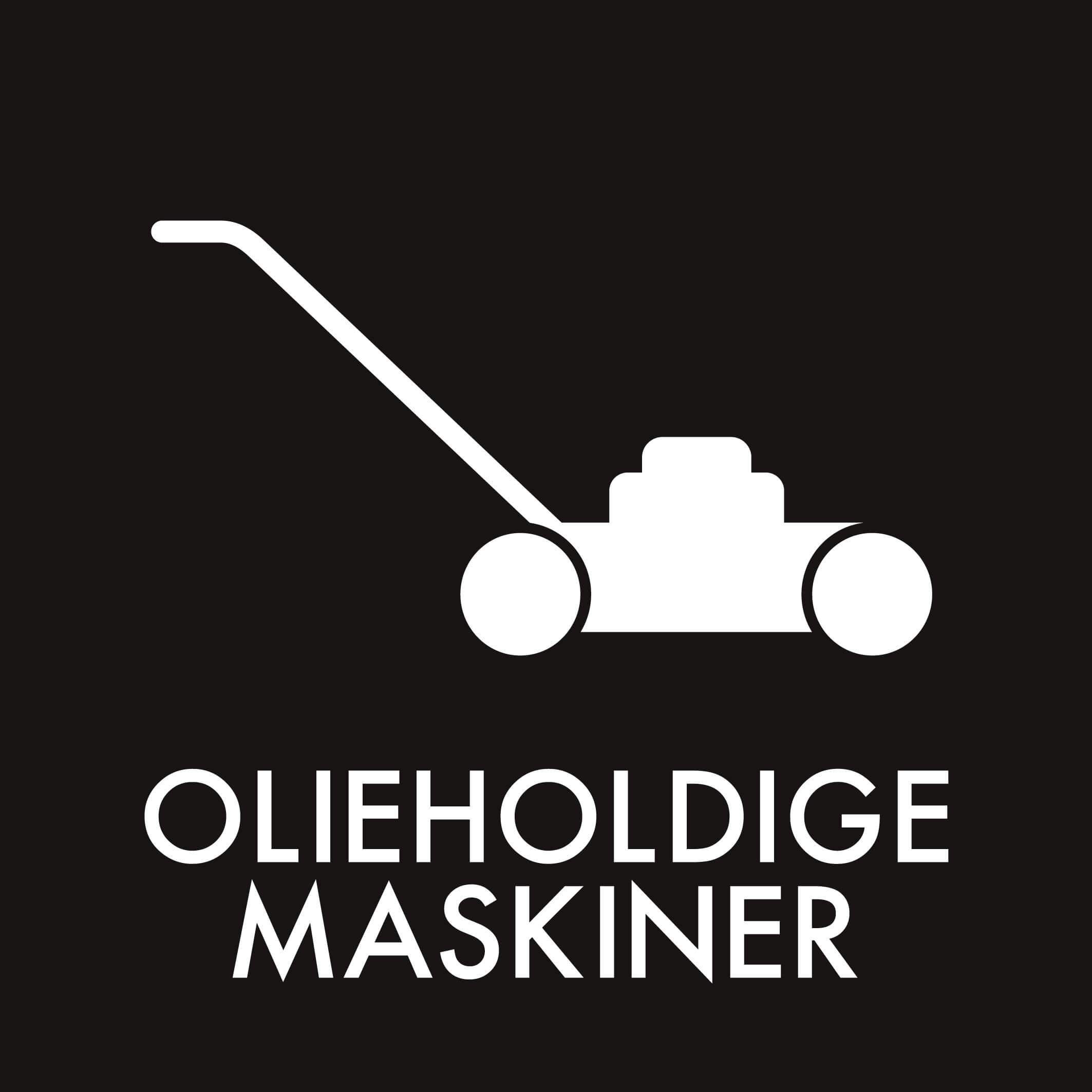 Dansk Affaldssortering - Olieholdige maskiner sort