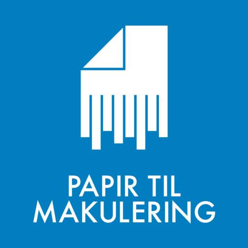 Dansk Affaldssortering - Papir til makulering