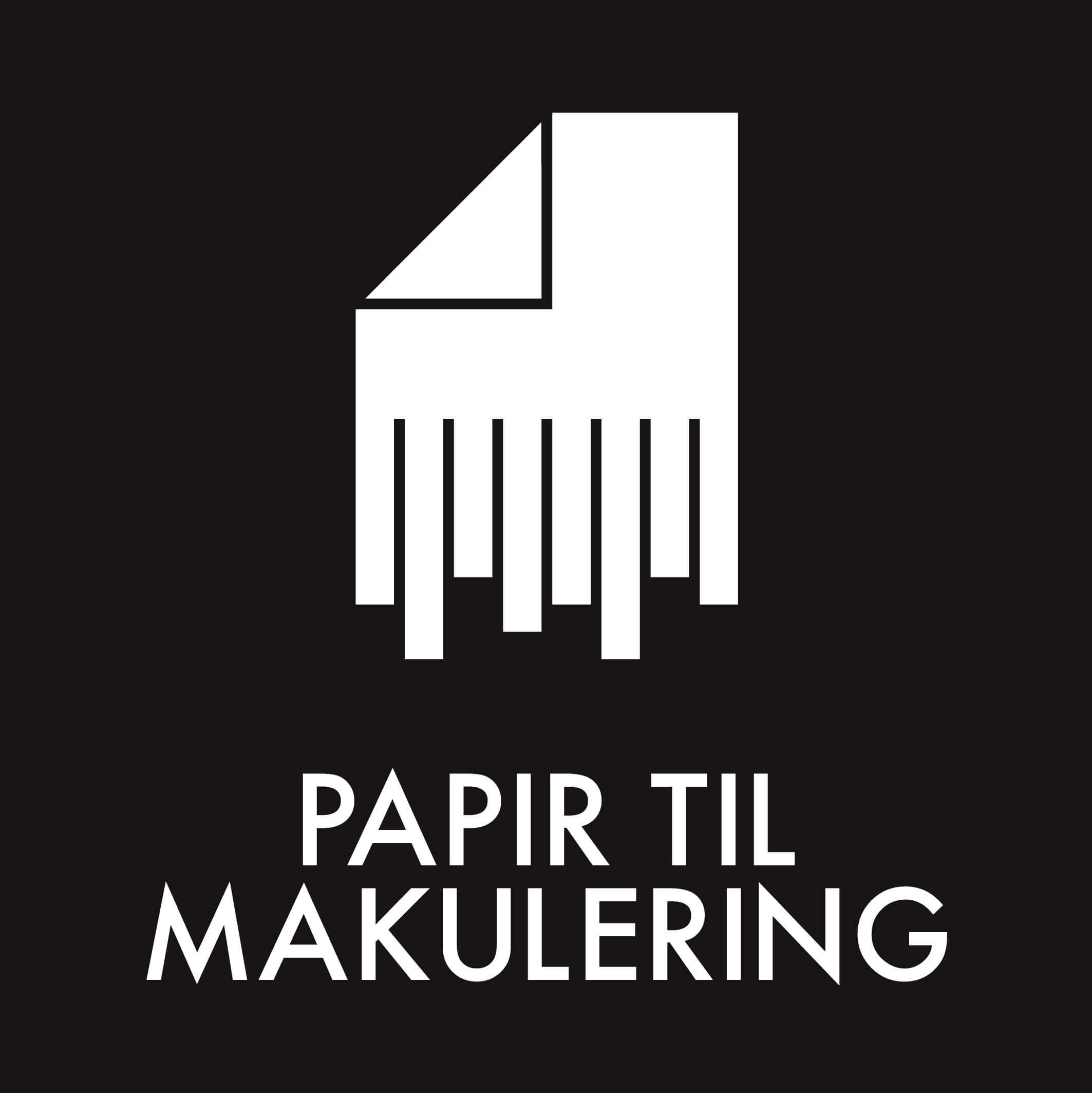 Dansk Affaldssortering - Papir til makulering sort