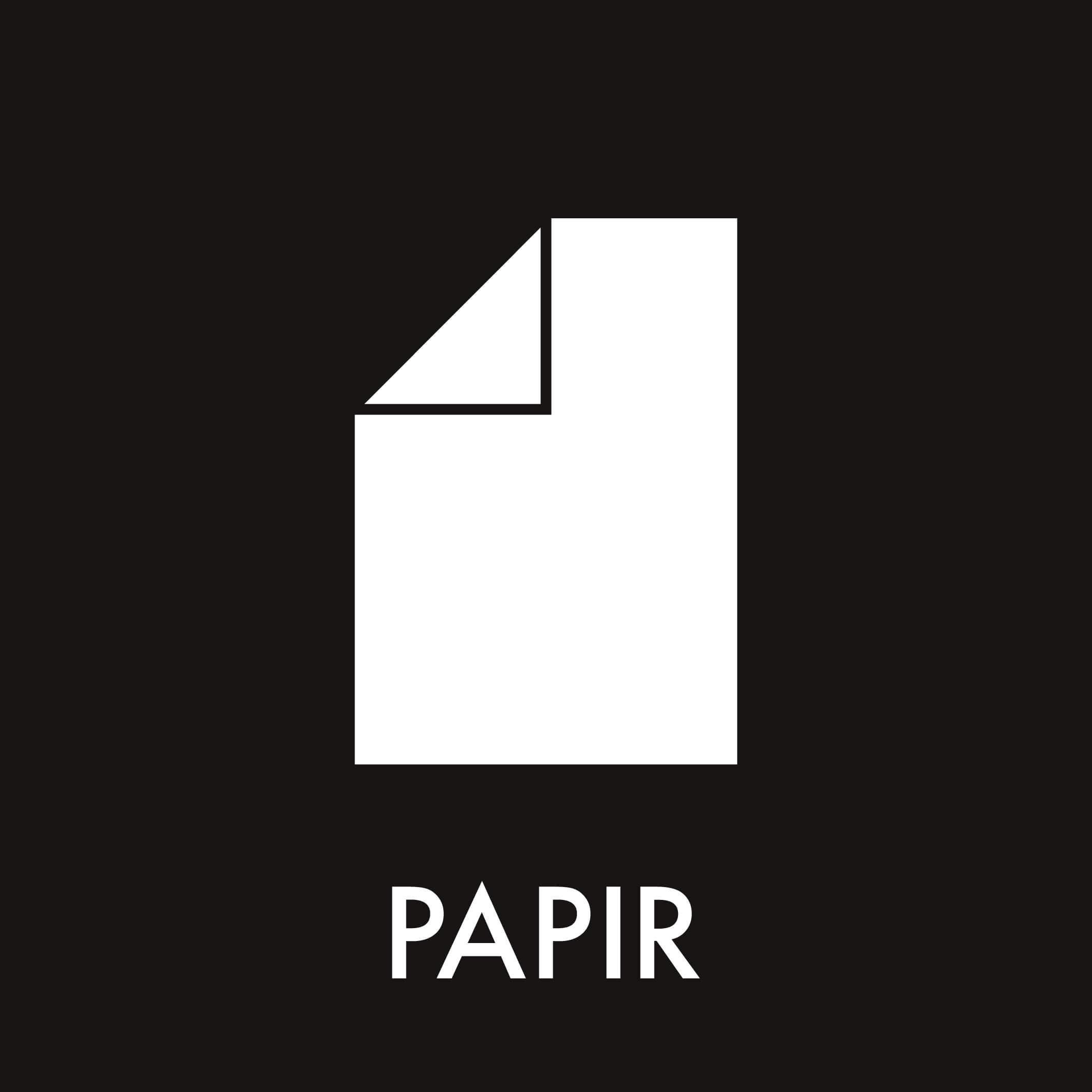Dansk Affaldssortering - Papir sort