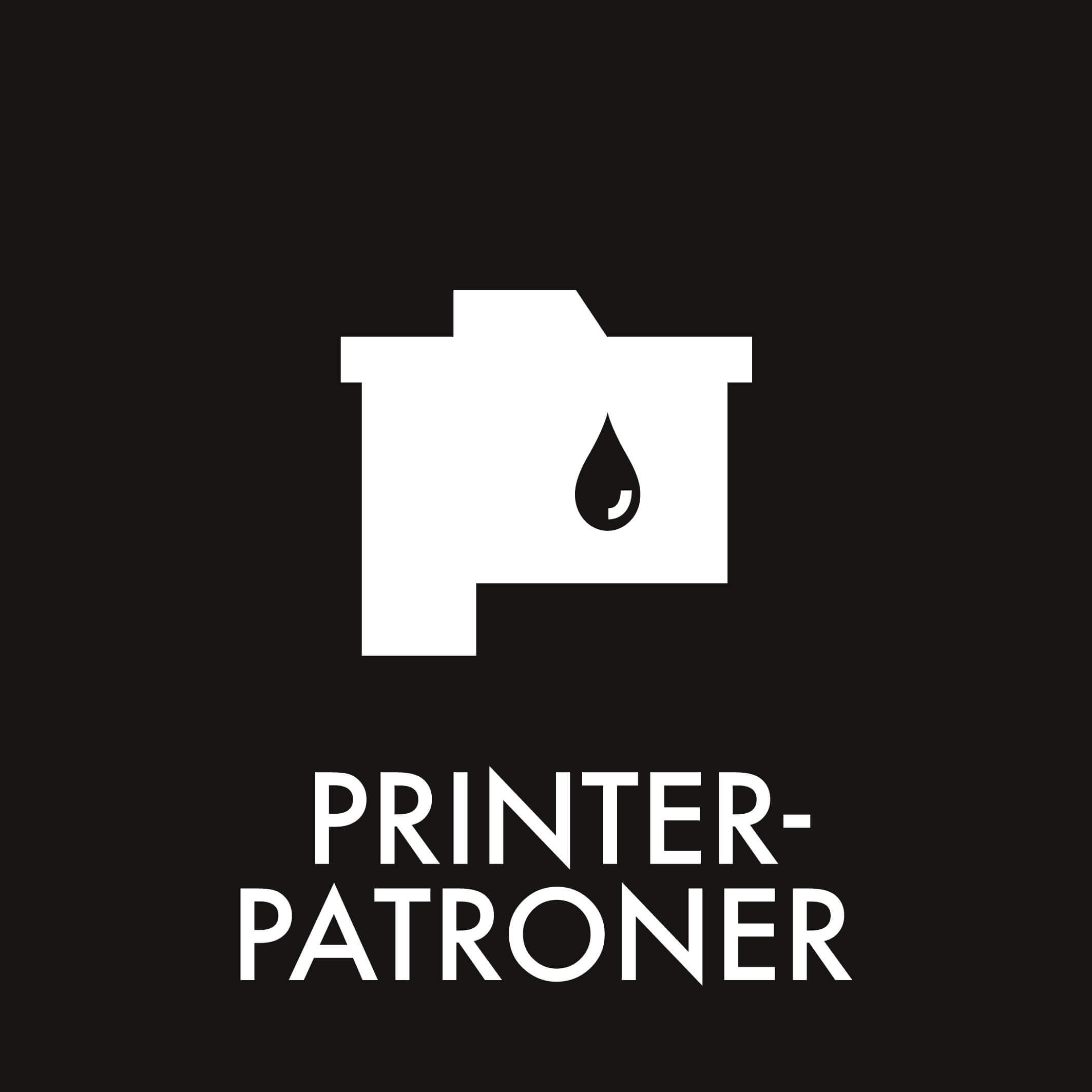Dansk Affaldssortering - Printerpatroner sort