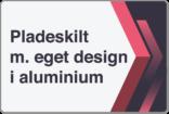 Pladeskilt i aluminium