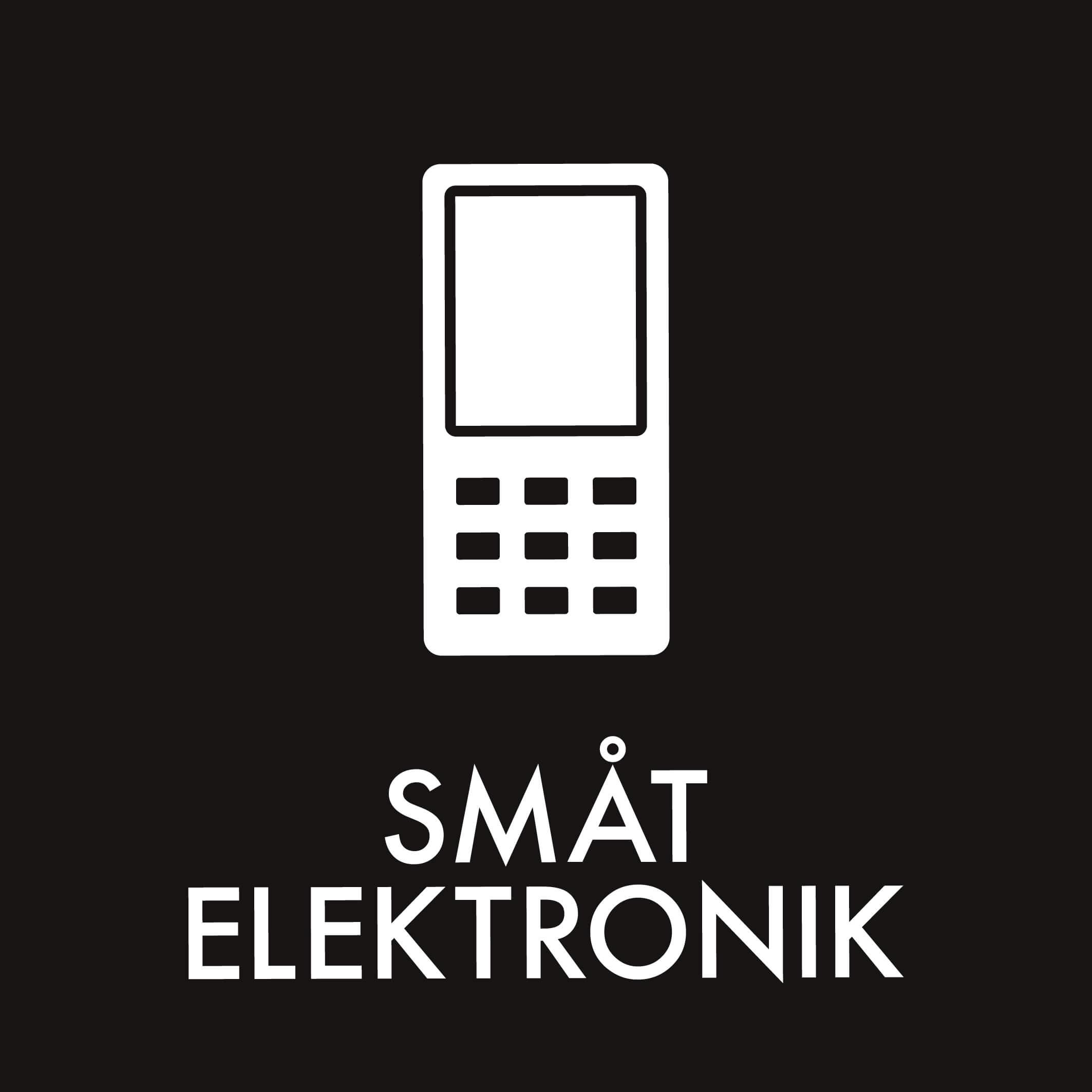 Dansk Affaldssortering - Småt elektronik sort