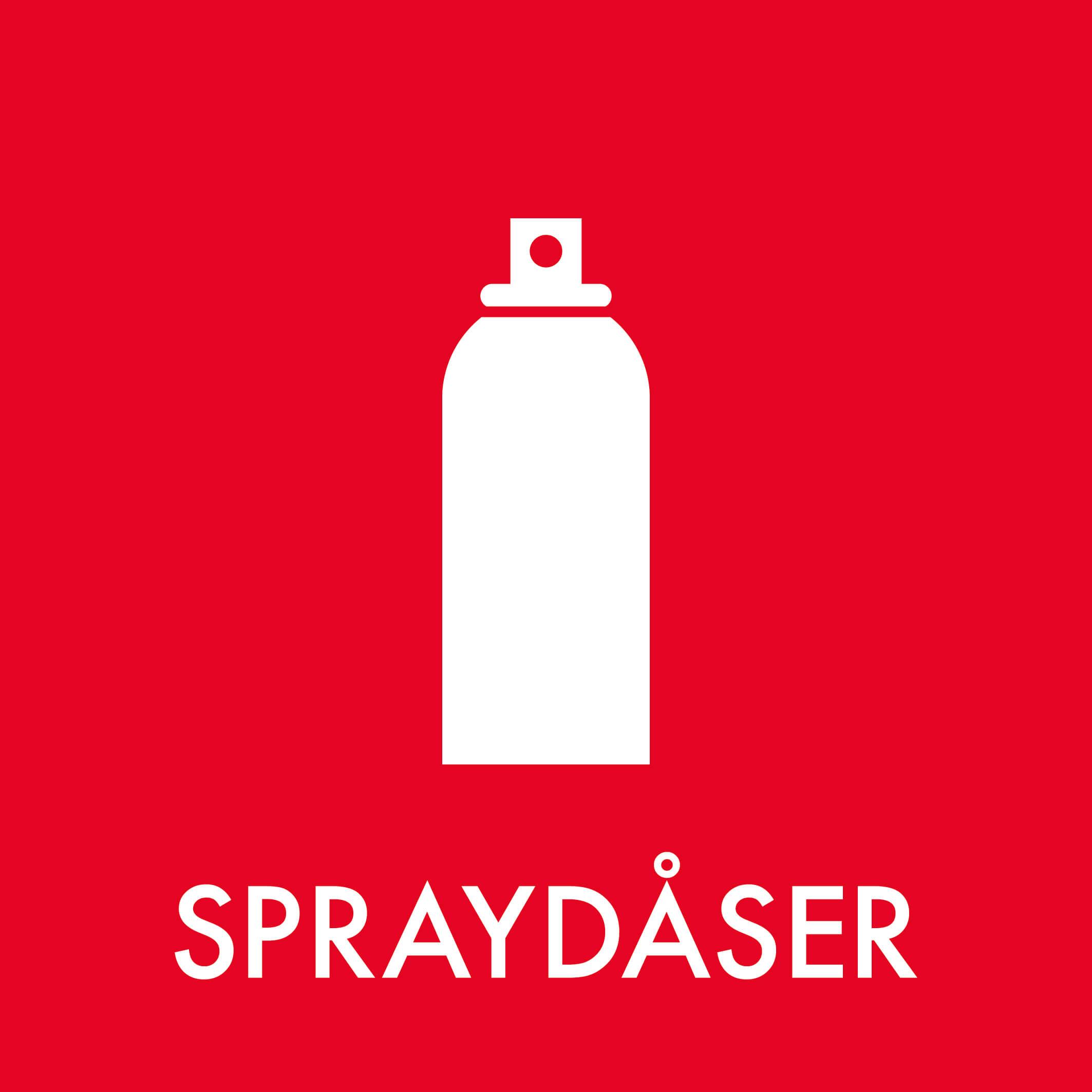 Dansk Affaldssortering - Spraydåser