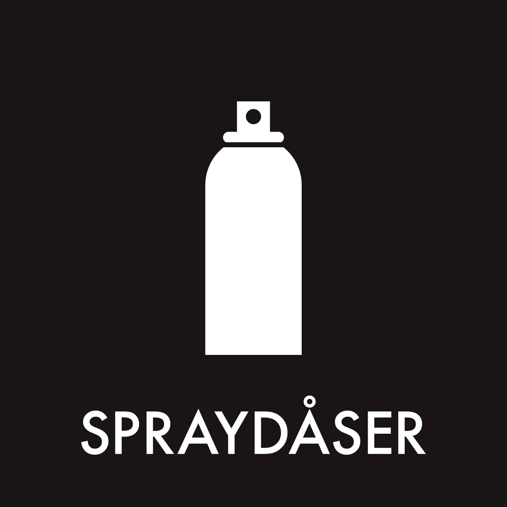 Dansk Affaldssortering - Spraydåser sort