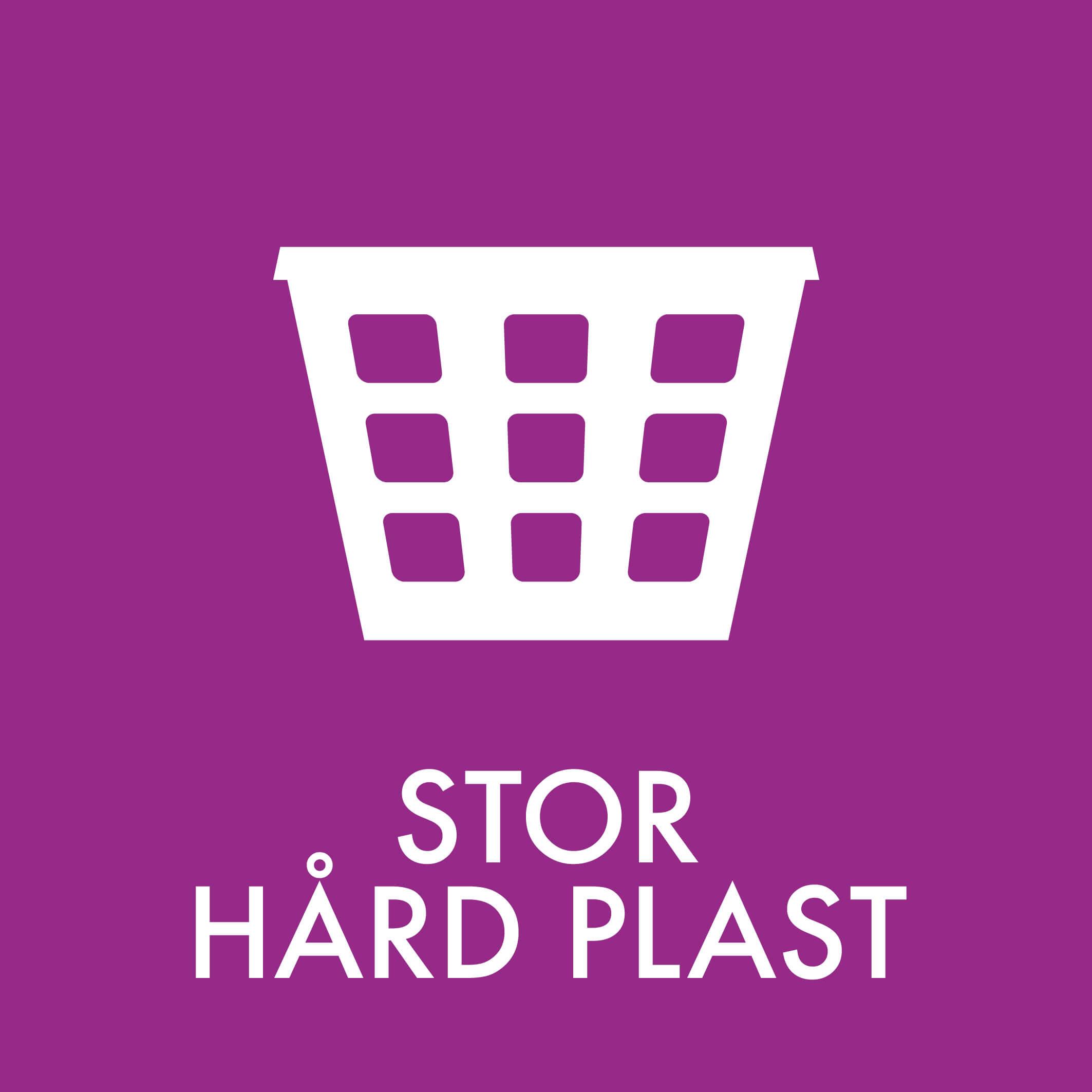Dansk Affaldssortering - Stor hård plast