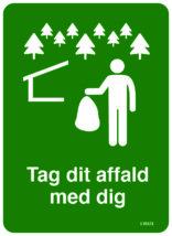 Shelterplads regler skilt