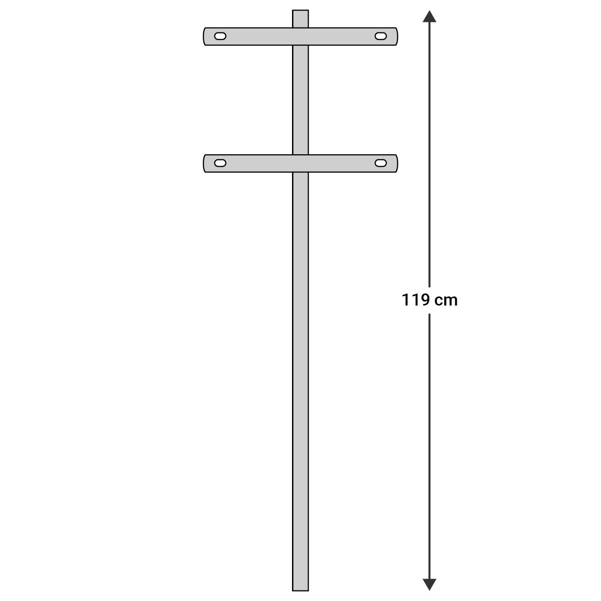 Skiltespyd m 2