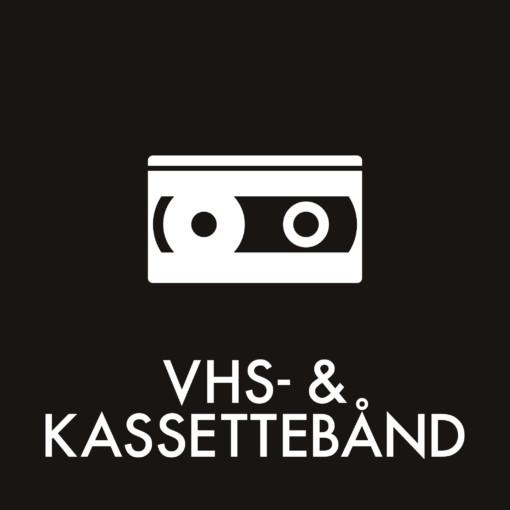 Dansk Affaldssortering - VHS- og kassettebånd sort
