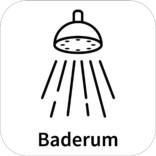 Baderum skilt