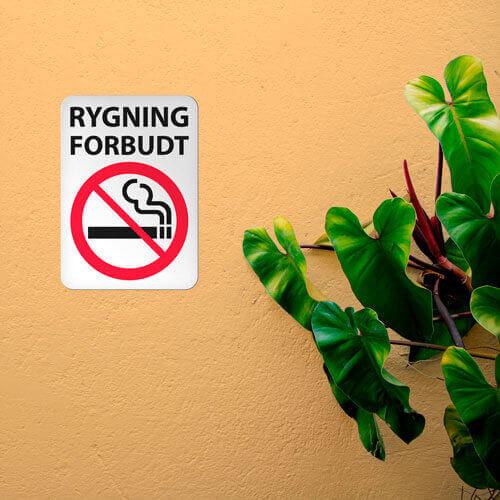 Rygning forbudt miljøbillede