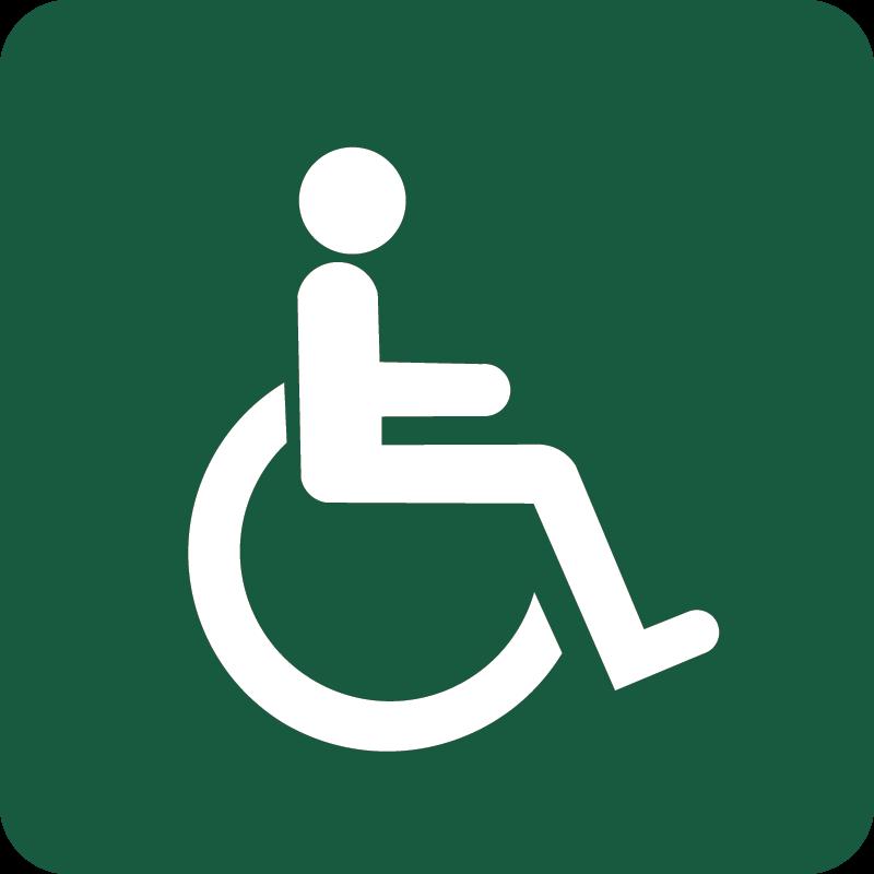 Handicapegnet Naturstyrelsens skilt