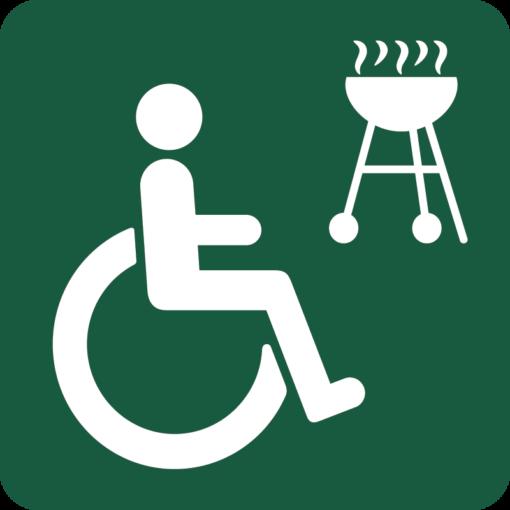 Handicapgrill Naturstyrelsens skilt