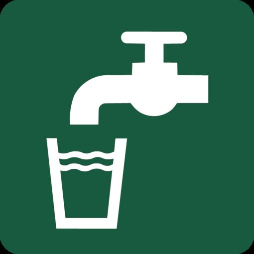 Drikkevand Naturstyrelsens skilt