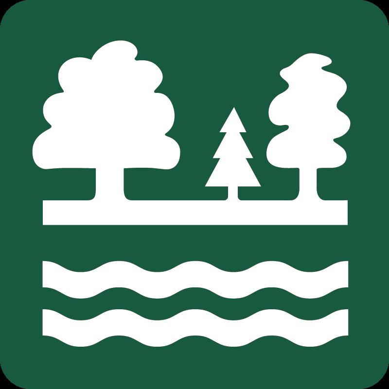 Vandværksskov Naturstyrelsens skilt