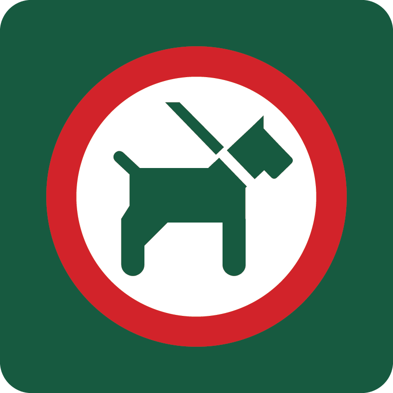 Hund i snor Naturstyrelsens skilt