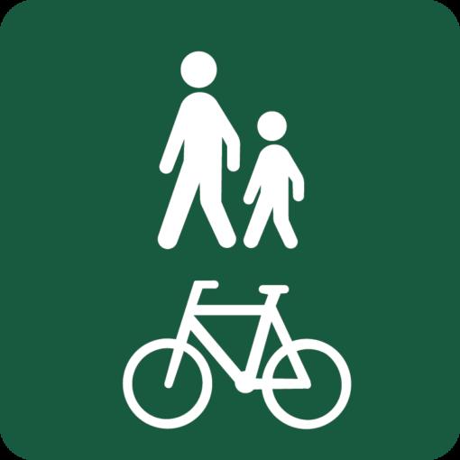 Gang- og cykelsti Naturstyrelsens skilt