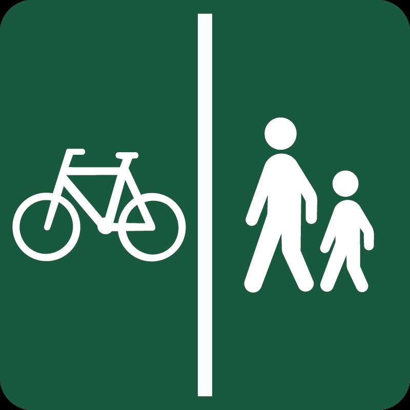 Cykelsti og Gangsti Naturstyrelsens skilt