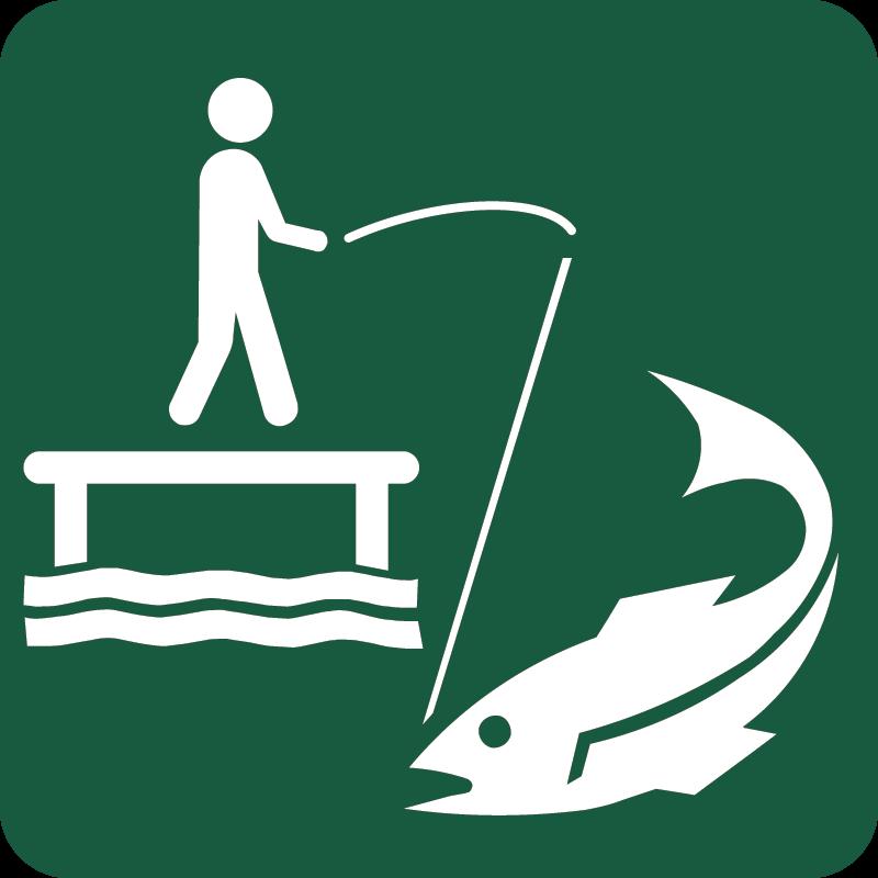 Fiskeri Naturstyrelsens skilt
