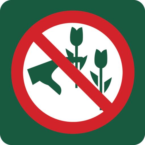 Blomster plukning forbudt Naturstyrelsens skilt