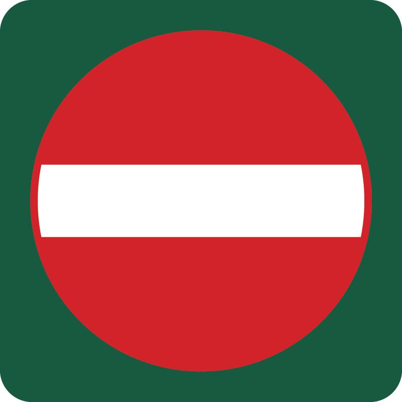 Indkørsel forbudt Naturstyrelsens skilt