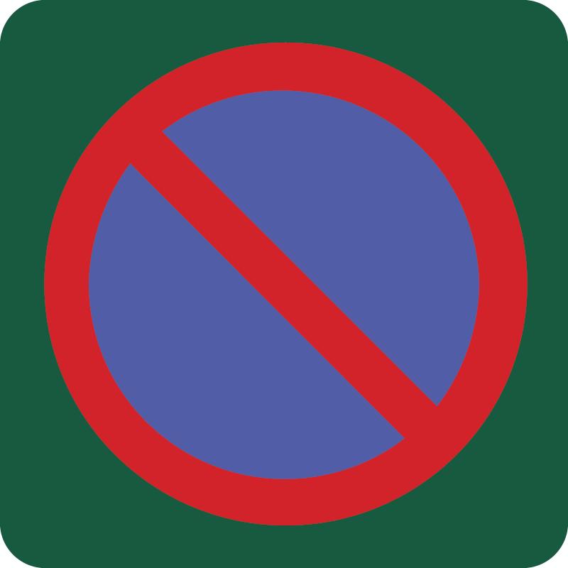 Parkering forbudt Naturstyrelsens skilt