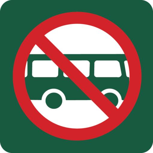 Busparkering forbudt Naturstyrelsens skilt