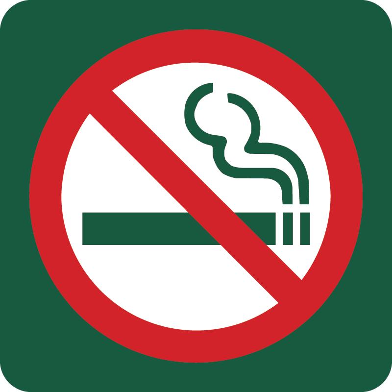 Rygning forbudt Naturstyrelsens skilt