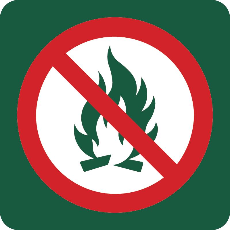 Bål forbudt Naturstyrelsens skilt