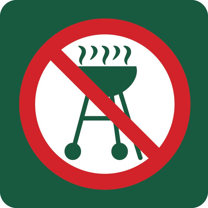 Grill forbudt Naturstyrelsens skilt