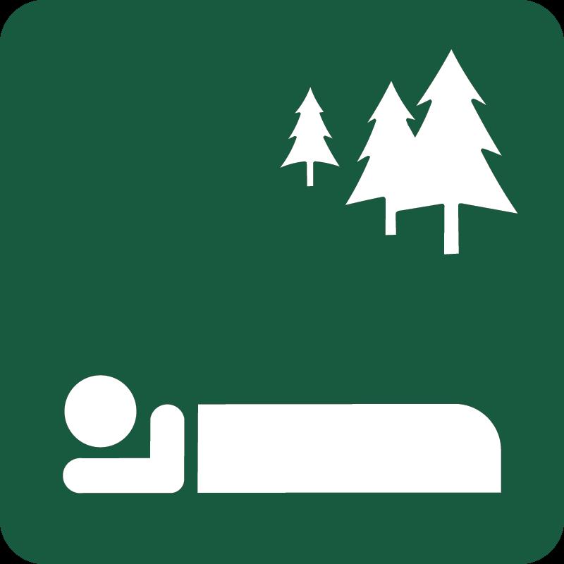 Fri teltning Naturstyrelsens skilt