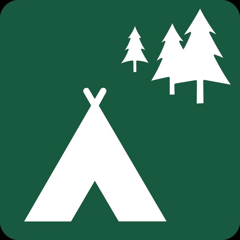 Lejrplads Naturstyrelsens skilt