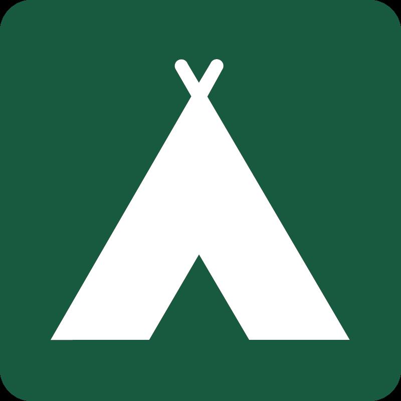 Campingplads Naturstyrelsens skilt